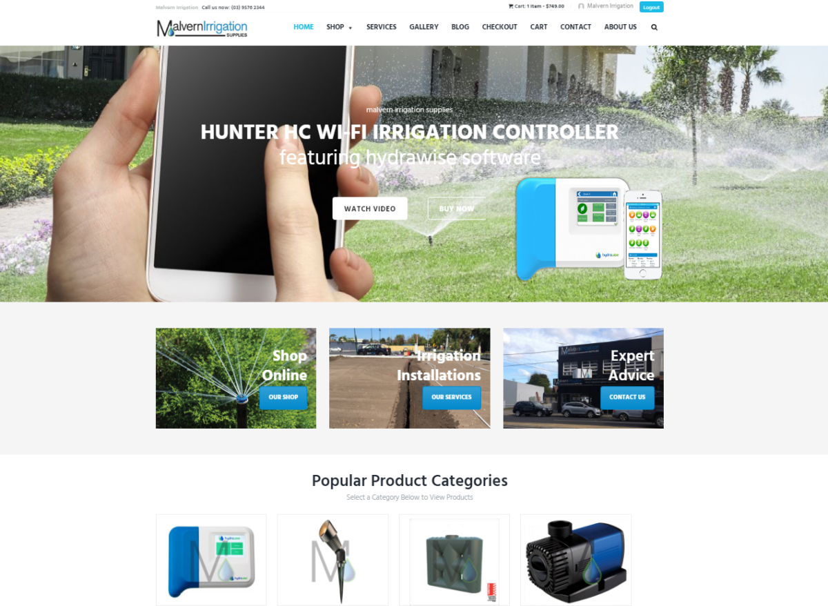 Malvern Irrigation New Website