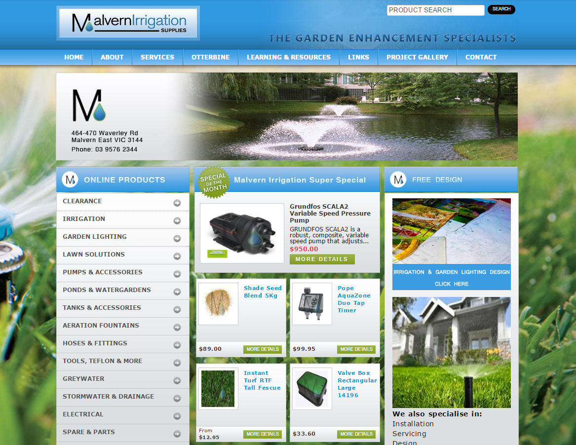 Malvern Irrigation Old Website