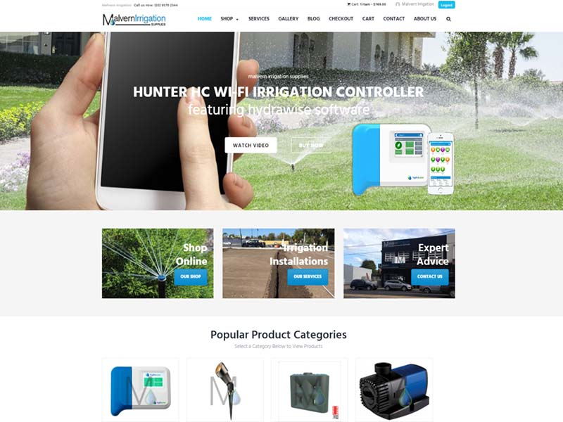 Malvern Irrigation Supplies has a new webite