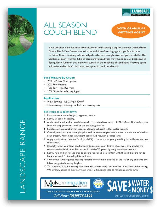 All Season Couch Brochure