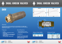 Brass Dual Check Brochure