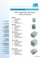 Commercial Valve Box Brochure