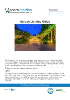 Garden Lighting Design Guide