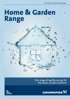 Grundfos Home & Garden Range Brochure