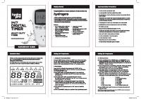 HPRO Digital Timer Instructions