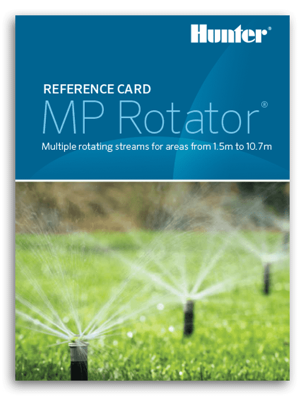 Hunter MP Rotator Reference Card
