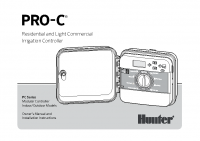 Hunter PRO C Modular Manual