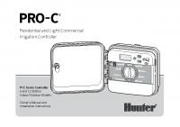 Hunter PRO C PCC Manual