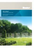 Hunter Pro Spray Brochure