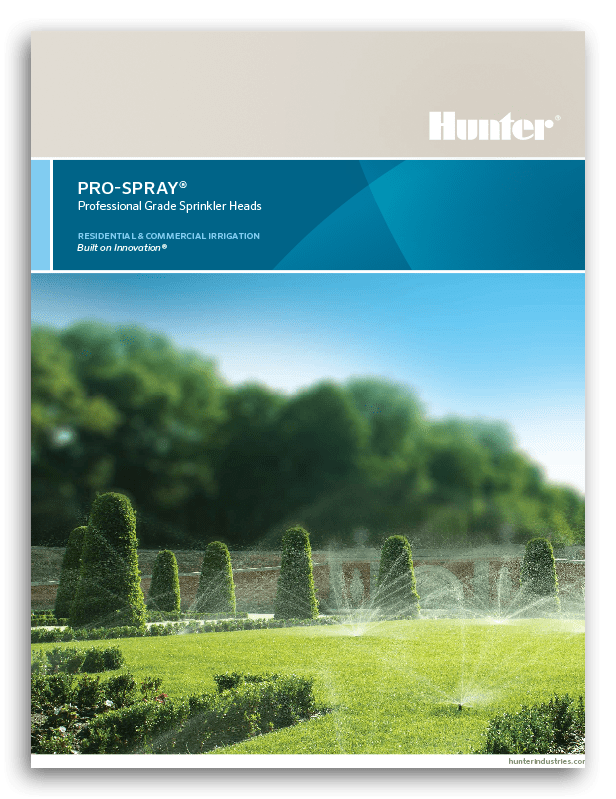 Hunter Pro Spray Brochure