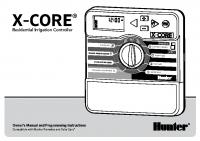Hunter X-CORE Manual