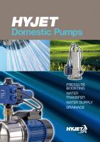 Hyjet Domestic Pumps Brochure