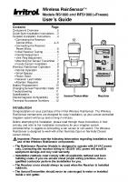 Irritrol RS1000-1 User Manual