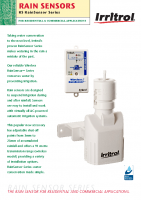Irritrol RS1000-I Wireless Rain Sensor Brochure