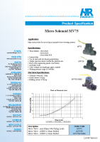 MV75 Solenoid Valves Brochure