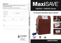 MaxiSAVE RM2000-4000 Owners Manual