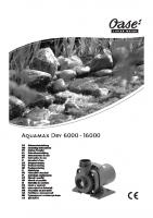 Oase Aquamax Dry Manual