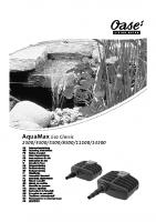 Oase Aquamax Eco Classic Manual