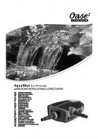 Oase Aquamax Eco Premium Manual