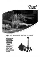 Oase Aquarius Fountain Set Manual