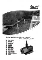 Oase Aquarius Universal Manual