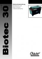 Oase Biotech 30 Manual