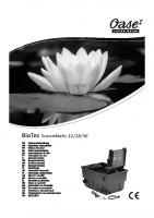 Oase Biotech Screenmatic Manual