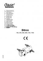 Oase Bitron Manual