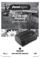 PMAX All in One PM2600 Instructions