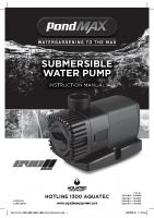 PMAX EVOII Pump Instructions