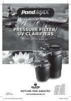 PMAX PF Pressure Filter Instructions