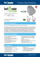Rain Harvesting Leaf Eater Advanced Manual