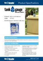 Rain Harvesting Tank Gauge Brochure