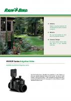Rainbird HV Valve Brochure