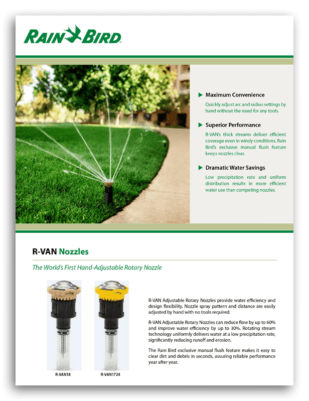 Rainbird RVAN Brochure