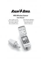 Rainbird Wireless Manual