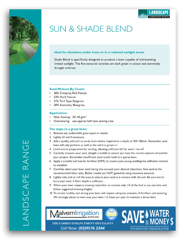 Sun and Shade Lawn Seed Brochure