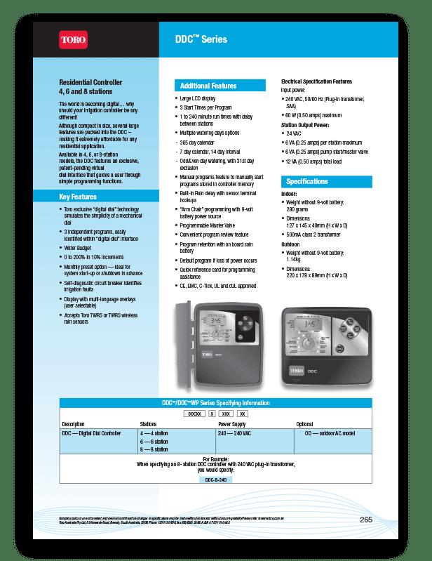 Toro DDCWP Brochure