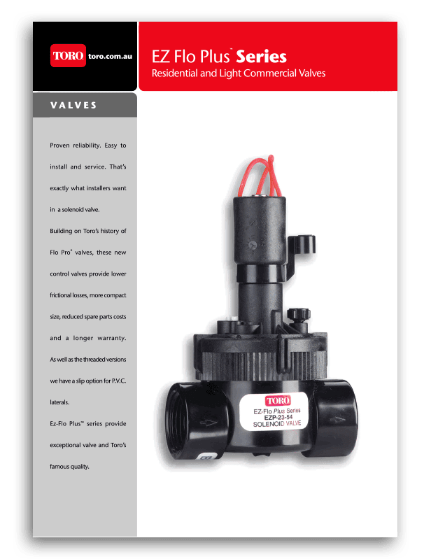 Toro EZ Flo Plus Series Brochure