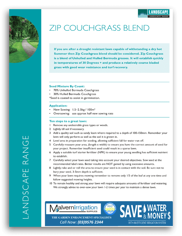 Zip Couch Grass Brochure
