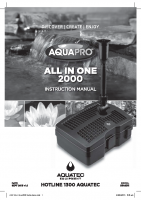 AQP All in One 2000 Instructions