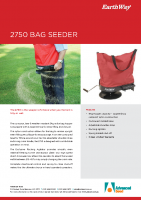 Earthway 2750 Bag Seeder Brochure