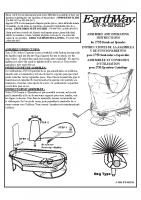 Earthway 2750 Bag Spreader Manual