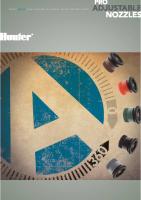 Hunter Pro Spray Adjustable Nozzle Chart