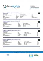 PondMAX Pressure UV Specs