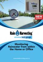 Rain Harvesting Wireless Tank Gauge Brochure