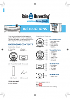 Rain Harvesting Wireless Tank Gauge Manual