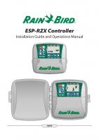 Rainbird ESP-RZX Manual