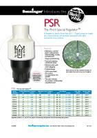 Senninger Pressure Reg Brochure